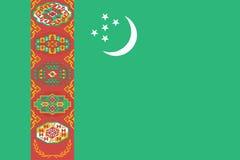 Flag of Turkmenistan. Vector illustration. World flag royalty free illustration