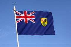Flag of the Turks and Caicos Islands Stock Images
