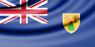 Flag of Turks and Caicos Islands. Royalty Free Stock Photo
