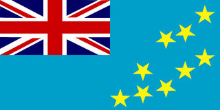 Flag of Tuvalu stock illustration