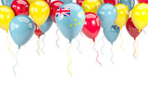 Flag of tuvalu on balloons Stock Photo