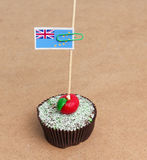 Flag of Tuvalu on cupcake Royalty Free Stock Images