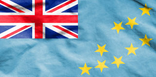 Flag of Tuvalu. Royalty Free Stock Photos
