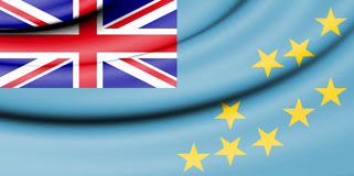 Flag of Tuvalu. Royalty Free Stock Photography