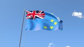 Flag of Tuvalu. Front Flag of Tuvalu, Seamless Loop, Alpha Matte available on my portfolio stock video