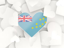 Flag of tuvalu, heart shaped stickers Royalty Free Stock Photography