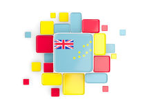 Flag of tuvalu, mosaic background Stock Photography