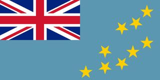 Flag of Tuvalu official colors and proportions, vector image. Flag of Tuvalu official colors and proportions, vector image Stock Image