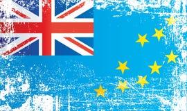 Flag of Tuvalu, Polynesia. Wrinkled dirty spots. royalty free illustration