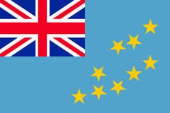 Flag of Tuvalu Royalty Free Stock Images