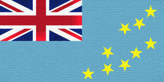 Flag of Tuvalu Wall Royalty Free Stock Photo