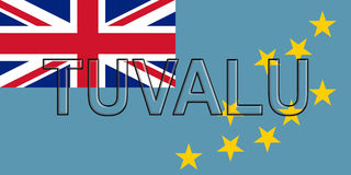 Flag of Tuvalu Word Stock Photography
