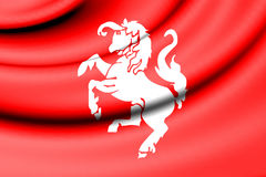 Flag of Twente, Netherlands. Royalty Free Stock Photography