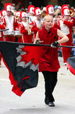 Flag twirler Stock Images