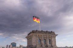 flag tysken Royaltyfri Fotografi