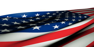 Flag of the U.S.A. Close-Up of the flag of the U.S.A. with fabric appeal in an extreme angle. The realistic fabric structure makes this picture ideal for large Stock Photos
