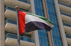 Flag of UAE. Close up of flag of UAE Stock Photography