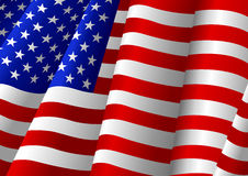 The Flag uf USA. Illustration of the flag of the United States of America Royalty Free Stock Image