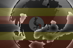 Flag of Uganda Stock Photos
