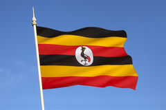 Flag of Uganda - Africa. The flag of Uganda was adopted on 9 October 1962, the date that Uganda became independent from the United Kingdom Royalty Free Stock Images