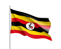 Flag of Uganda. African state Stock Photos