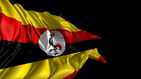 Flag of Uganda stock video