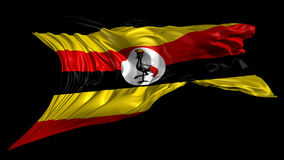 Flag of Uganda stock footage