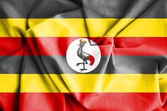 Flag of Uganda. Royalty Free Stock Photo