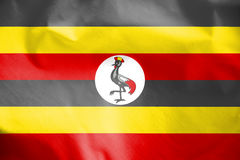 Flag of Uganda. Royalty Free Stock Images
