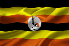 Flag of Uganda Royalty Free Stock Photo