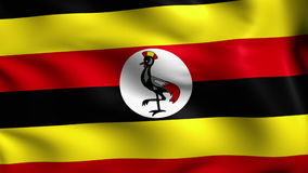 Flag of Uganda (loop) stock footage