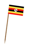 Flag of Uganda. Tooth pick wit a small paper flag of Uganda Royalty Free Stock Photos