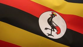 Flag of Uganda Stock Photo