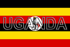 Flag of Uganda Word. Stock Photography