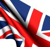 Flag of UK. Against white background royalty free stock images