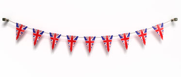 Flag of UK. 3d illustration. Clipping path included Stock Photography