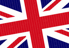 Flag of UK. Abstract Background Stock Image