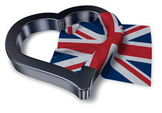 Flag of the uk and heart symbol Stock Photo