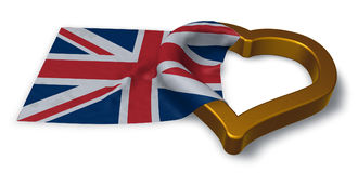 Flag of the uk and heart Stock Photos