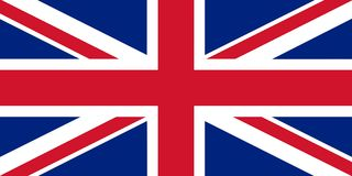 Flag of UK. Official flag of UK nation Stock Images