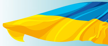 Flag of the Ukraine. The national flag of the Ukraine Stock Photo