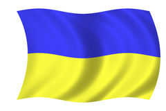 Flag of ukraine. Waving flag of ukraine - ukrainian flag vector illustration