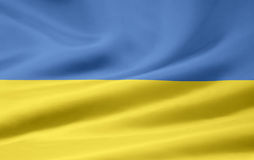 Flag of Ukraine Stock Photo