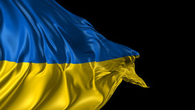 Flag of Ukraine. Beautiful   3d animation of Ukraine flag with alpha channel stock video footage