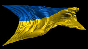 Flag of Ukraine. Beautiful   3d animation of Ukraine flag with alpha channel in 4k resolution stock video footage