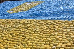 Flag of Ukraine, laid out the gingerbread Royalty Free Stock Image