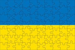 Flag of Ukraine puzzle Royalty Free Stock Photo