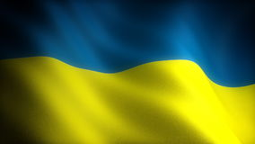 Flag of Ukraine stock video