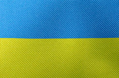 Flag of Ukraine stock image