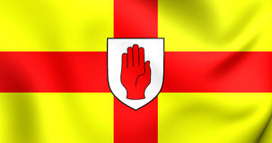 Flag of the Ulster Province, Ireland. Stock Photos